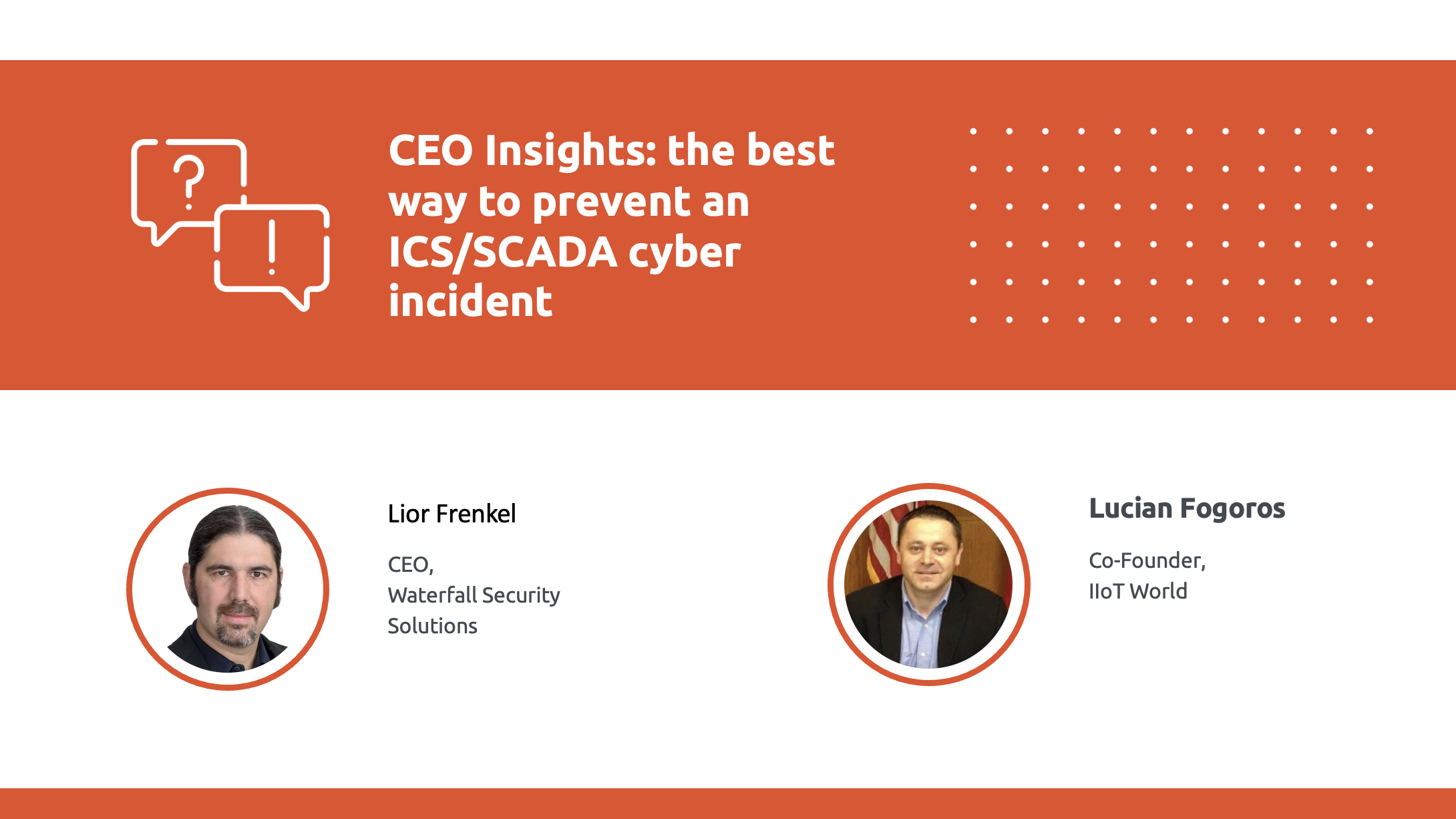 CEO insights with CEO of waterfall security