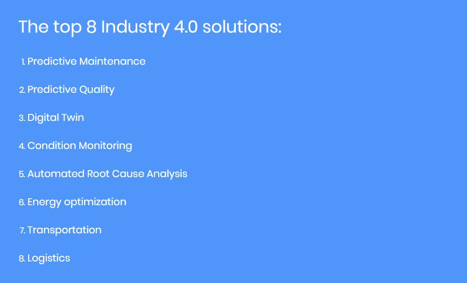 The top 8 Industry 4.0 solutions