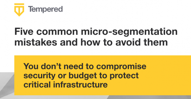 Micro segmentation mistakes & security image