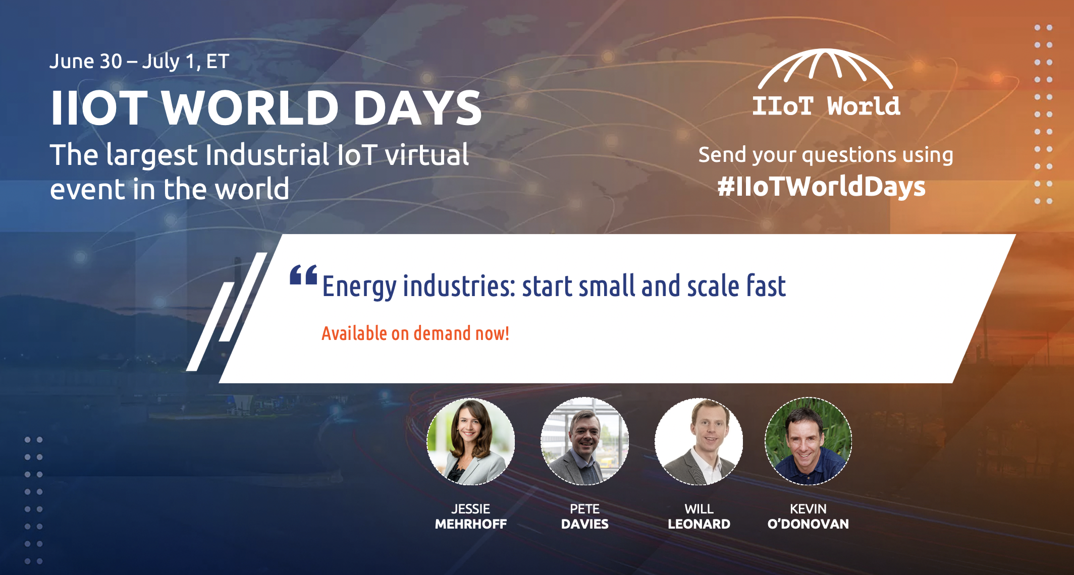 energy track on demand iiot world days