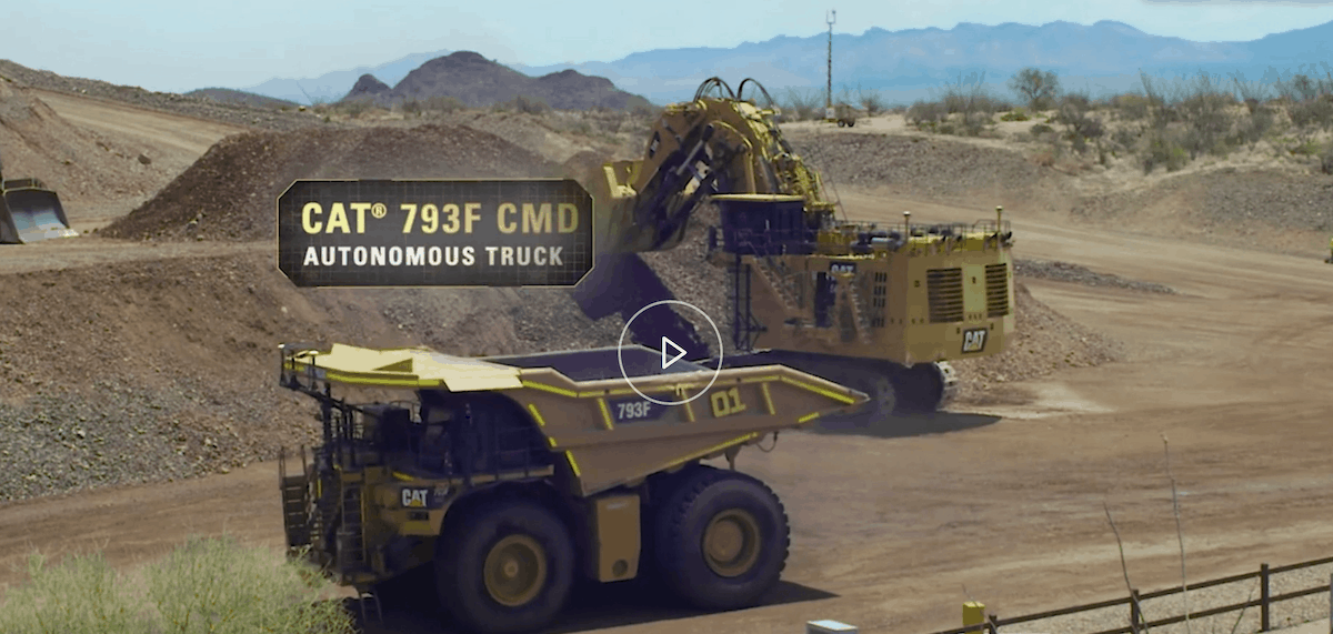 autonomous trucks caterpillar